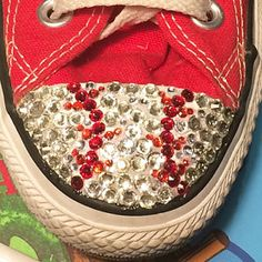 Blinged out Baseball Converse Shoes in many colours and colours by TrickedKicks