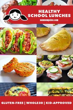 These delicious and healthy school lunch ideas are perfect for growing kids and teens! All these make-ahead lunch items can be eaten without utensils and they're paleo, gluten-free, Whole30 and packed with flavor! #whole30 #paleo #glutenfree #backtoschool #schoollunches #healthylunches #packedlunches Free Paleo Recipes, Whole 30 Recipes, Lunch Recipes, My Recipes, Dessert Recipes, Favorite Recipes, Healthy School Lunches, Make Ahead Lunches, Lunch Items
