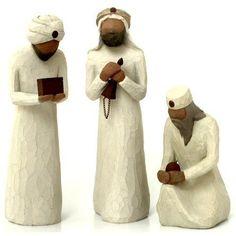 "Demdaco Willow Tree Christmas ""The Three Wisemen"" Figurine - Mirranme Wine Supplies, Willow Tree Angels, Willow Tree Figurines, Wood Wick Candles, Three Wise Men, O Holy Night, Voodoo Dolls, Collectible Figurines, Seasonal Decor"