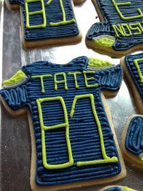 Seattle Seahawk Sugar Cookies