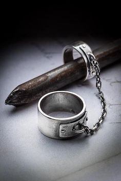 """Bondage"" Sterling Silver Ring ~ MISSY INDUSTRY"
