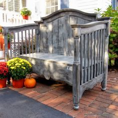 old baby bed bench.