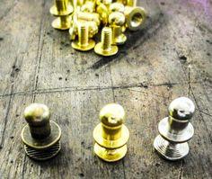 Chicago Screws Monkhead - 5mm diameter head  4 Colours Easy to Use -Qty 10  #JaszitupleatheraccentsJiula