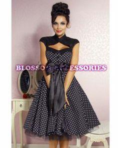 Rockabilly Fashion :: Rockabilly Polka Dot 50s 60s Swing Dance Dress Pin Up Retro Flared Plus - Fancy Dress Costumes, Adult Costumes, Fancy ...