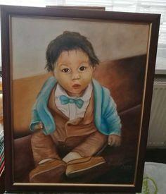 """Oil canvas, 40x40, portrait """"strapáčik"""". Oil, Portrait, Canvas, Painting, Tela, Headshot Photography, Painting Art, Portrait Paintings, Canvases"""