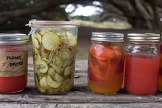 zucchini pickles, because if nothing else grows in my garden, zucchini always does.
