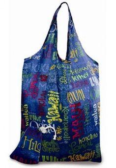 ea5f84b1b410 Hawaiian Island Doodles Eco-Foldable Reusable Tote Bag Eco Friendly Bags