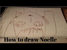 Drawing Noelle Silva from Black Clover (Red Marker Pencil)