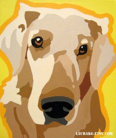 Custom 12x16  Pop Art Dog Portrait Painting of Your Pet via Etsy.