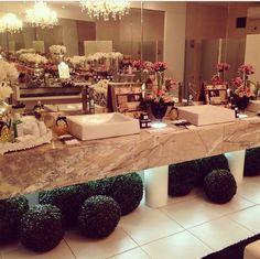 Decor banheiro casamento by Nicole Chang