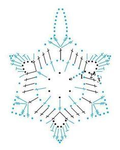 Risultati immagini per crochet snowflake chart Crochet Snowflake Pattern, Christmas Crochet Patterns, Holiday Crochet, Crochet Snowflakes, Crochet Stitches Patterns, Christmas Knitting, Crochet Diagram, Crochet Motif, Crochet Doilies