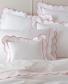 Matouk ‐ Butterfield Bed Linens By Matouk ‐ Pioneer Linens Flat Sheets, Bed Sheets, Fitted Sheets, Cotton Sheets, Linen Bedding, Bedding Sets, Bed Linens, Decoration Bedroom, Bed Linen Sets