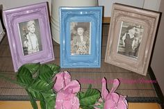 ♥♥ Custom Designed Moulded Plastic Antique French Style Mini Frames x 3 ♥♥