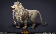 Creative Assembly, High Elf, White Lions, Total War, Warhammer Fantasy, Zbrush, Lotr, Camel, Lion Sculpture
