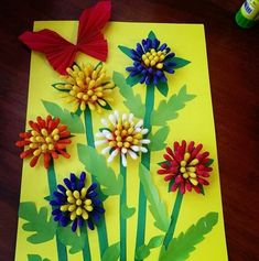 Flower Crafts Kids, Cute Kids Crafts, Creative Activities For Kids, Creative Arts And Crafts, Spring Crafts For Kids, Summer Crafts, Easter Crafts, Art Activities, Christmas Crafts