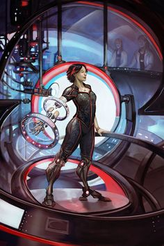 "Cover for ""Upgraded"" an anthology of original cyborg short fiction by Julie Dillon"