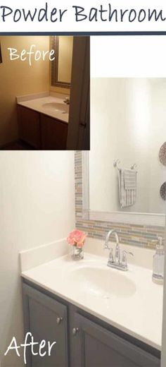 Lovely >> Powder Rest room Makeover