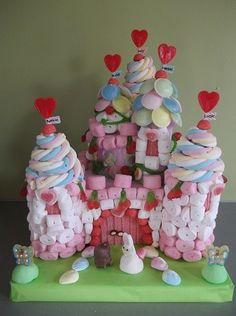 Château princesse en bonbons