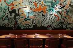 Cool mural at new Miami restaurant hot spot Chotto Matte  www.miamicurated.com