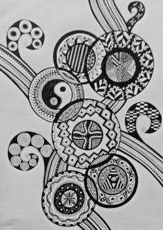 zentangle art. circles.