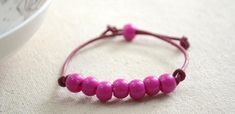 Easter Jewelry Craft ideas- Making Leather Cord Easter bracelet within 2 Simple Steps