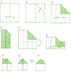 Origami. Malý dům z papíru