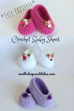 These sweet little crochet slippers are one of my favorite things to make for new Moms! (Think last minute baby shower gift.) And, this is a great beginner crochet project! (Something other than potholders & scarves!) It's also a fun, unique yarn s Crochet Baby Boots, Crochet Baby Sandals, Booties Crochet, Crochet Baby Clothes, Crochet Slippers, Baby Booties, Crotchet Baby Shoes, Knitted Baby, Hat Crochet