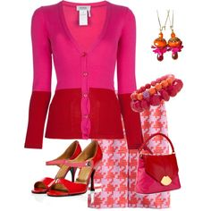 """""""Red and Pink"""" by nanagayle23 on Polyvore"""
