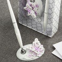 Butterfly Design Wedding Pen Set