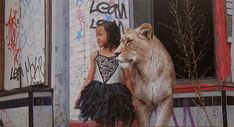 """Indie & Lion"" - Original art by Kevin Peterson"
