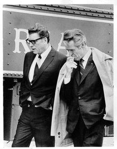 Burt Lancaster and Robert Ryan, 1973...timeless style