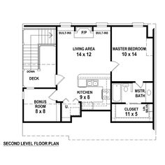 Garage Plan 44903 Level Two
