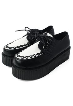 Creeper Platforms Shoes in Black/White - New Arrivals - Retro, Indie and Unique Fashion (NEED)