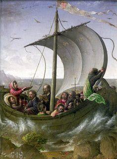 Jesús calmando la tempestad, de Juan de Flandes, en el Palacio Real de Madrid