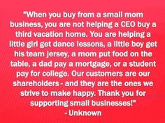 I am a small  mom business