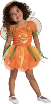 Toddler Girls Pumpkin Pie Fairy Costume  - Princess, Fairy Costumes - Toddler Girls Costumes - Baby, Toddler Costumes - Halloween Costumes - Categories - Party City
