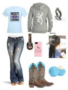 """""""Can I get a big hell yea from the redneck girls like me"""" by johndeerhater ❤ liked on Polyvore featuring Beats by Dr. Dre and Eos"""