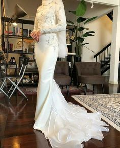 Muslimah Wedding Dress, Muslim Wedding Dresses, Wedding Dress Trends, Dream Wedding Dresses, Hijab Bride, Malay Wedding Dress, Cheap Wedding Dress, Bridal Outfits, Bridal Dresses