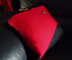 Star Trek 24th Century Uniform cushion and Comm by OtterKraft
