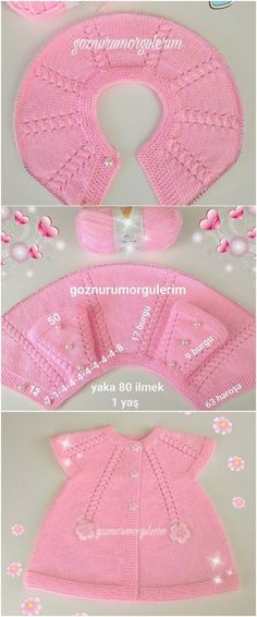 Full 12 Pieces Knit Baby Vest Model with Illustrated Expression - Babykleidung Knitting For Kids, Baby Knitting Patterns, Knitting Stitches, Knit Baby Dress, Bebe Baby, Baby Sweaters, Baby Booties, Baby Hats, Crochet Baby