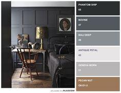 Dark versus Light – Colour Inspiration using Plascon Swatch It Home Decor Colors, Colorful Decor, Colorful Interiors, Plascon Paint Colours, Grey Paint Colors, Hall Colour, Color Combinations Home, Colour Architecture, Swatch