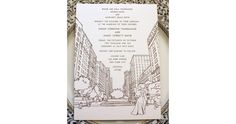 the nic studio: stationery and illustration from brooklyn, ny » sarah and jim: park ave elegance