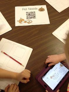 using QR codes in the classroom....CUTE
