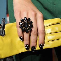 Imperfect polka-dot nails