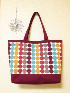 Tote Bag; Colorful Dot