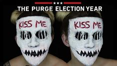 Kiss Me Purge Mask SFX Makeup Tutorial  |  THE PURGE MINI SERIES