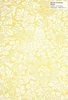 Bird and Anemone Wall Paper- William Morris