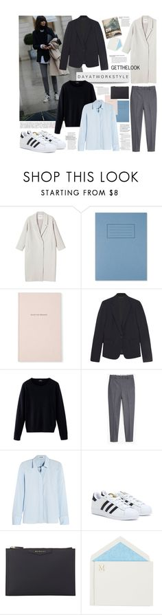 """Day at work style- Get the look"" by juhh ❤ liked on Polyvore featuring Monki, Kate Spade, Theory, MANGO, Jil Sander, adidas, Givenchy, Connor, GetTheLook and dayatwork"