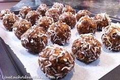 How to make fruit, nut and coconut protein balls