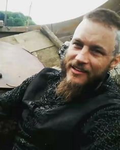 Travis Fimmel and Alexander Ludwig behind the scenes of Vikings by Amy Bailey
